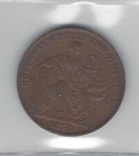 **1858** Australia Half Penny Token, Coin Mart Graded**VF-30**