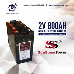 2V 800AH Sealed AGM Deep Cycle Maintenance Free Solar Battery UPS