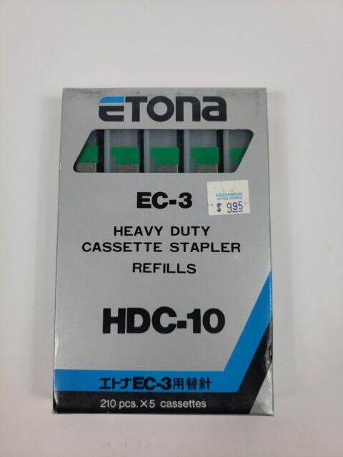 "Etona Staples Interchangeable Color Coded Cassettes HDC-10 3//8"" Green EC-3 Itoya"