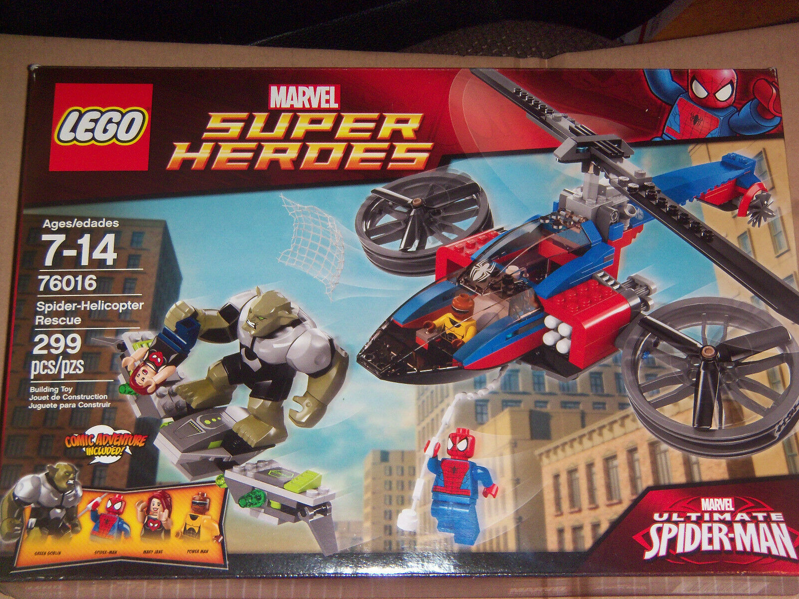 NEW   LEGO Spider-Helicopter Rescue (76016) 299 pcs.