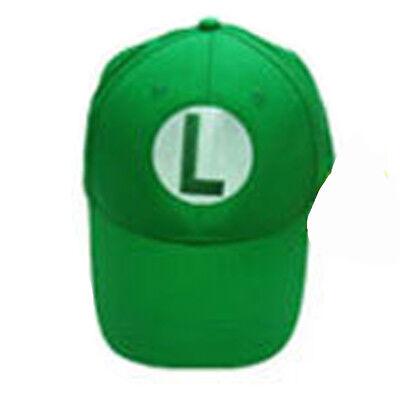 0a4bedd12 Details about Super Mario Bros Luigi L Letter Cap Sport Baseball Hat Summer  Adjustable Green