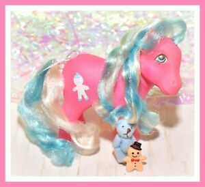 My-Little-Pony-MLP-G1-VTG-MOLASSES-Pink-Blue-Candy-Cane-Gingerbread