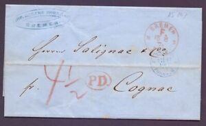 Brief-Bremen-1871-Franco-F-Stempel-und-weitere-Stempel-nach-Cognac-397