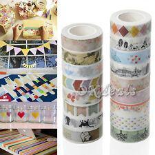 5X Washi Tape Adhesivas Papel Tarjeta Pegajoso Cinta De Etiqueta Arte Decoración