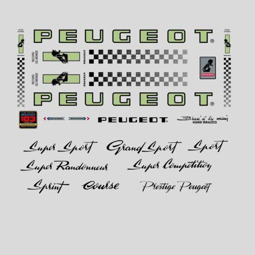 Transferts PY10 Vélo Autocollants Peugeot PX10 N.0350 Decals