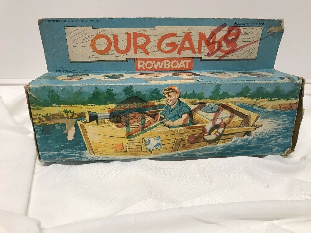 MEGO OUR GANG ROWBOAT VEHICLE WITH BOX FOR 8 INCH FIGURES Not Complete