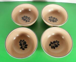 Pfaltzgraff-FOLK-ART-Soup-Cereal-Bowl-s-LOT-OF-4-Design-In-Made-in-USA-600