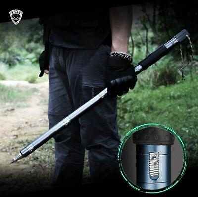 Safe Walking Security Stick Survival Cane Tactical Portable Trekking Pole Hiking