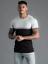 Gym-King-Mens-Short-Sleeve-Crew-Neck-Block-Panel-Taped-New-Slim-Fit-T-shirt-Tee thumbnail 10