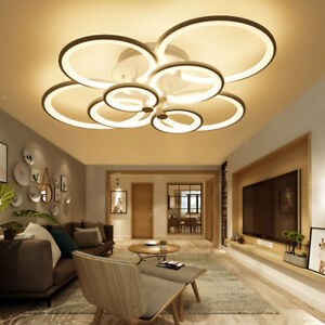 Details About Acrylic Modern Led Lamp Chandelier Light For Living Room Bedroom Indoor Ceiling