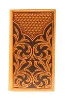 Nocona Western Mens Wallet Rodeo Tooled Leather Brown N5412448
