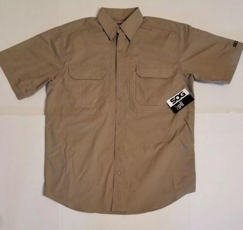 SOG Tactical Take Point Short Sleeve Vented Concealed Carry Jacket Shirt Medium