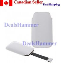 Leather Case For IPHONE 3G / 3GS / 4G 4 4S WHITE SHIP FROM CANADA