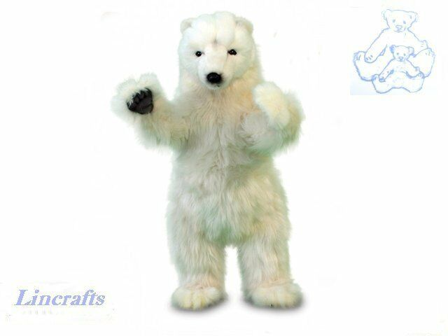 Hansa Polar Bear Cub Standing 5257 Soft Toy Sold by Lincrafts Established 1993