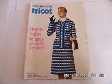 VOTRE MAGAZINE TRICOT N°155 JANVIER 1973 MODELES HOMME FEMME ENFANT     K17