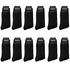 Gelante Men All Black Dress Socks Fashion Casual Cotton 12 Pairs size 10-13