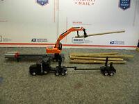 1/64 Custom Logging Set 1-kenworth & Trailer & Log Loader On Trailer & Logs (pp)