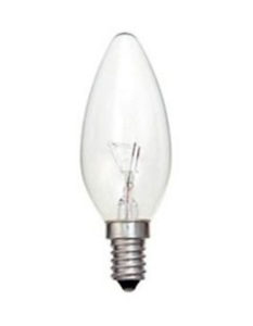 20 x Clear Candle Small Edison Screw Cap SES E14 Lamp Light Bulbs 25W 25 Watt