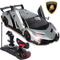 1/14 Scale Rc Lamborghini Veneno Gravity Sensor Radio Remote Control Car Silver on Sale