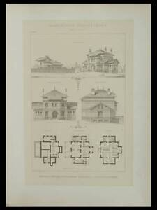 GARCHES, MAISON DE CAMPAGNE  - 1895 - GRANDE LITHOGRAPHIE- LETHOREL