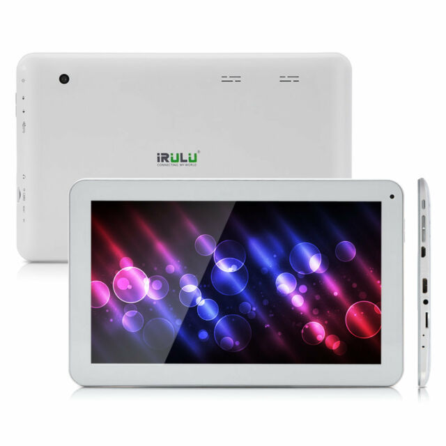 """iRULU 10.1"""" Android 5.1 Marshmallow 10.1"""" Tablet PC 8G Quad Core Wifi GMS White"""