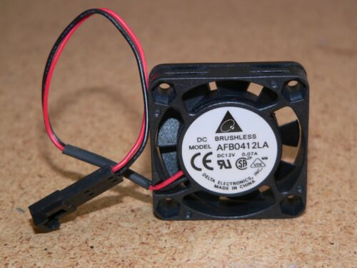 New Delta AFB0412LA 40x40x10mm Cooling Fan 12VDC 0.07A 2-Pin Locking Connector