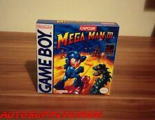 MEGA MAN III 3 (Nintendo Game Boy) Video Game Custom Art Box + Tray Only New