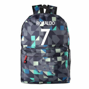 6bbba053b4c7 Image is loading Backpack-Bag-Soccer-Cristiano-Ronaldo-Cr7-Real-Madrid-