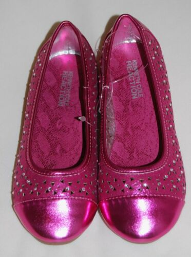 NWOB Kenneth Cole Reaction Girls Pink Sparkle Rhinestone Ballet Flats