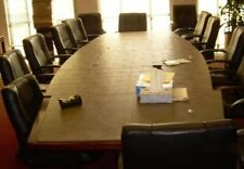Executive Wooden Top Conference Table Amp 6 Chairs 995 Newly Refurbished