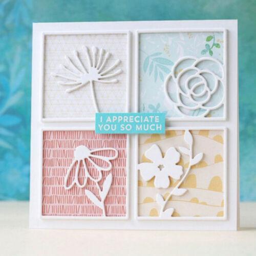 Four square Design Metal Cutting Die For DIY Scrapbooking Album Paper Card Ao FN