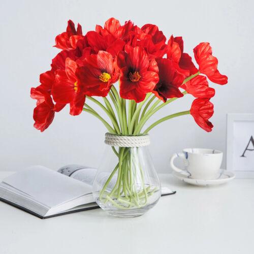 10pcs Artificial Mini Corn Poppies Silk Fake Poppy Flowers Wedding Home Decor