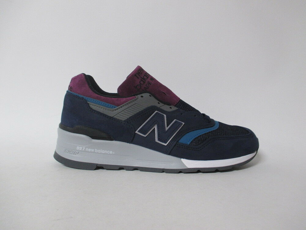 New Balance 997 Made in USA Navy Blue Grey White Sz 8.5 M997PTB