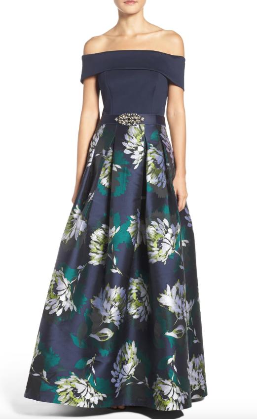 Vestido de fiesta Eliza J  Para Mujer Azul Marino Cal del hombro talla 10 10425  preferente