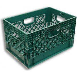 Image Is Loading Green Rectangular Milk Crate Heavy Duty Storage Bin