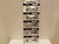 5 x FRESH Energizer 379 (SR521SW) Silver Oxide Battery 1.55 Volt Ships From USA