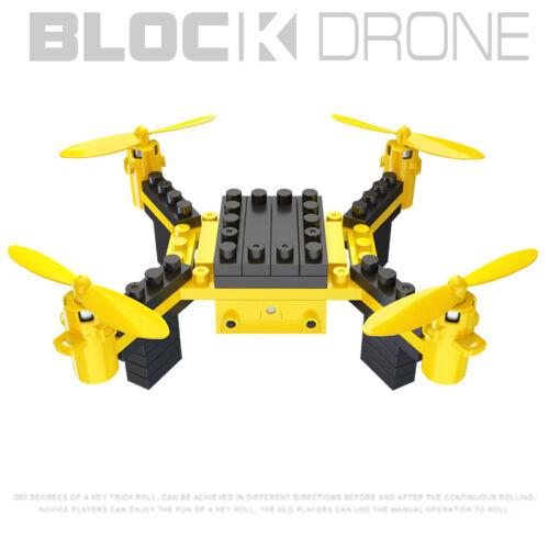 DIY Drone Mini UAV Block Toy 6 Axis Headless Mode RC Quadcopter Drone Xmas Gift