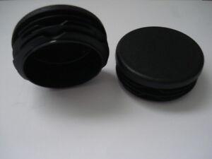 Lote-de-2-conectores-aletas-tapones-negro-para-tubo-redondo-diam-70-mm-obturador