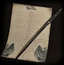 Severus Snape Wand with Spell list Great for Harry Potter and Hogwarts