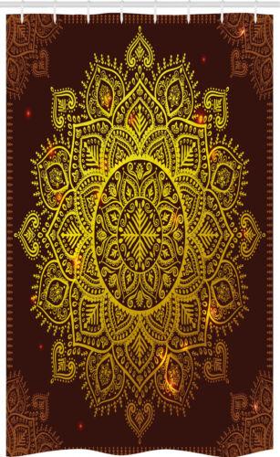 Oriental Snowflake Art Mandala Schmaler Duschvorhang
