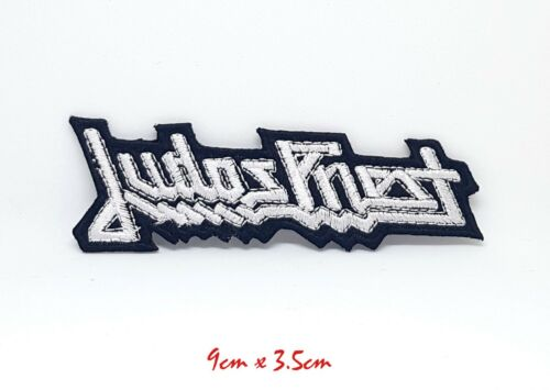 Judas Priest Black /& White Goth Punk Rock Embroidered Iron Sew On Patch #880