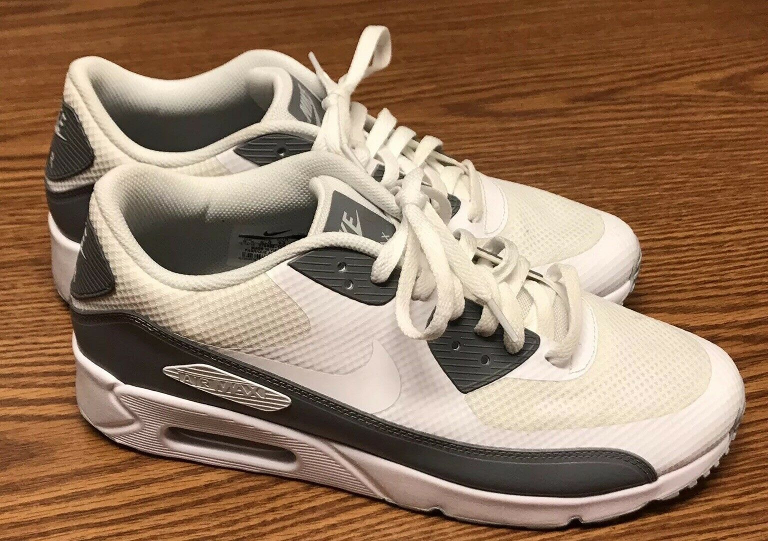 939f6a21a6 Nike 875695-102 Air Max 90 Ultra 2.0 Essential Essential Essential White  Gray Athletic Shoe