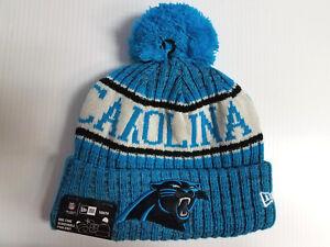 6ef66df94 YOUTH Carolina Panthers New Era Knit Hat On Field 2018 Sideline ...