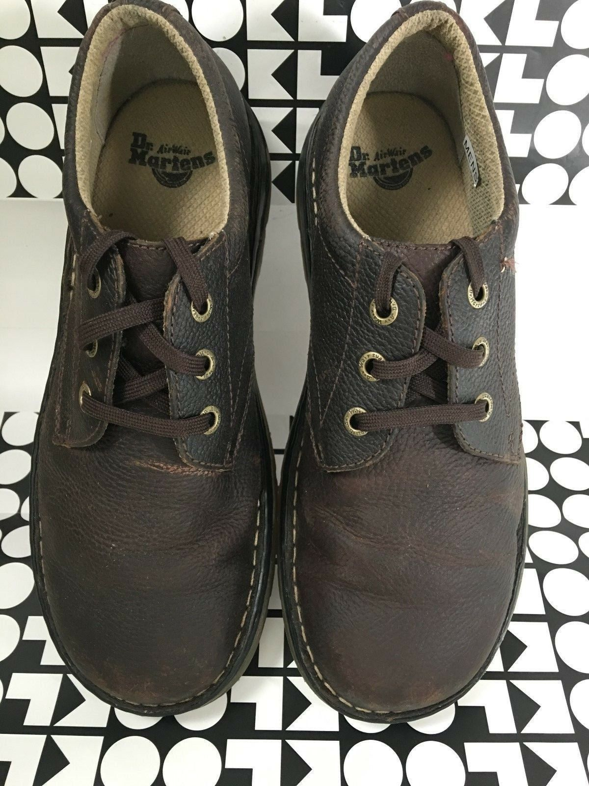 Dr. Martens Men's Casual Lace Up Leather Oxford shoes BROWN, USM12,  AW004