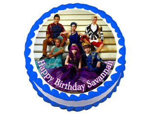 Disney Descendants party decoration round edible party ...