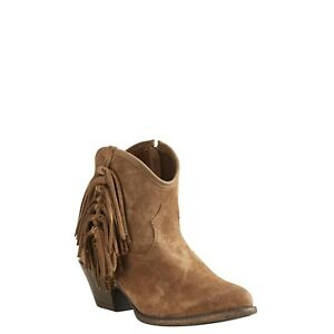 fa8dfc3a565 Details about ARIAT Women's Western Duchess Dirty Tan Short Ankle Cowgirl  Boots 10021630 NIB