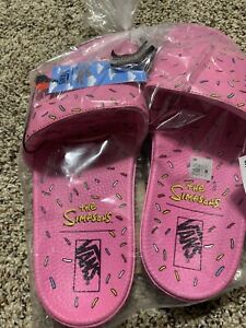 NEW-Vans-The-Simpsons-D-ohnut-Slide-On-Mens-Sandals-Size-11