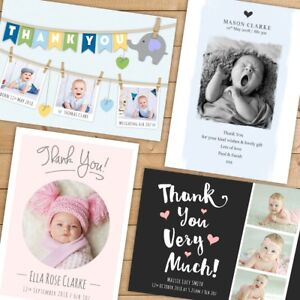 Personalised-Photo-Thank-You-Cards-Baby-Boy-or-Girl-Birthday-Christening