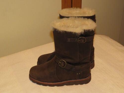 Botas Us 5 oveja de 36 Eur piel 235 £ Rrp Reino 5 Australia de 3 Noira Ugg® Unido y marrón cuero OqacEw8