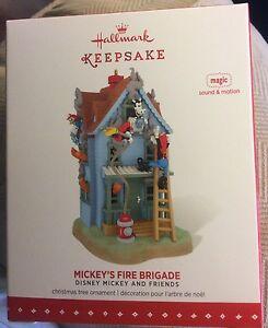 Hallmark-2015-Mickey-039-s-Fire-Brigade-Disney-Pixar-Magic-Ornament-NIB-HTF-NEW